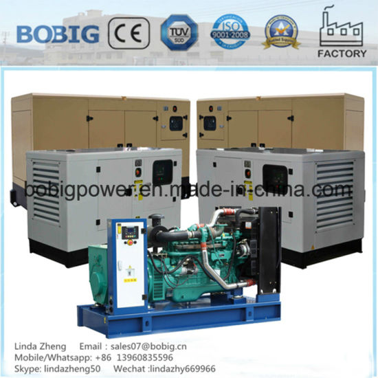300kw 375kVA Silent Canopy Open Generator with Cummins Engine Ntaa855-G7